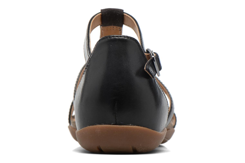 Sandales et nu-pieds Clarks Autumn Fresh Noir vue droite