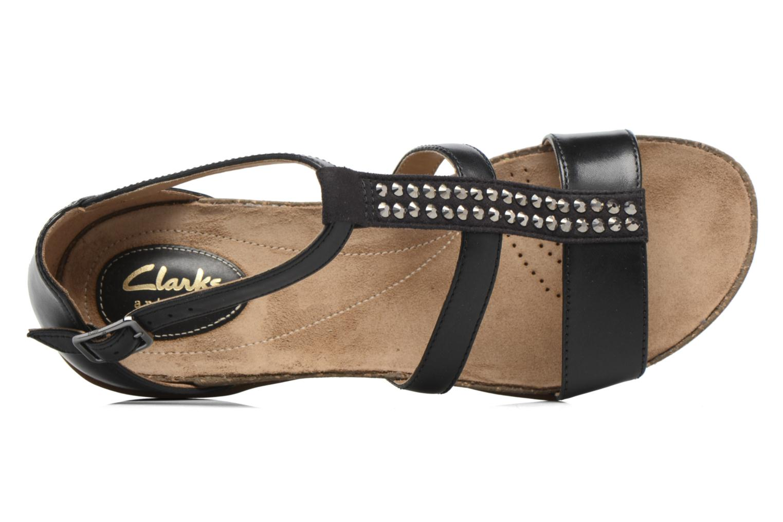 Sandales et nu-pieds Clarks Autumn Fresh Noir vue gauche