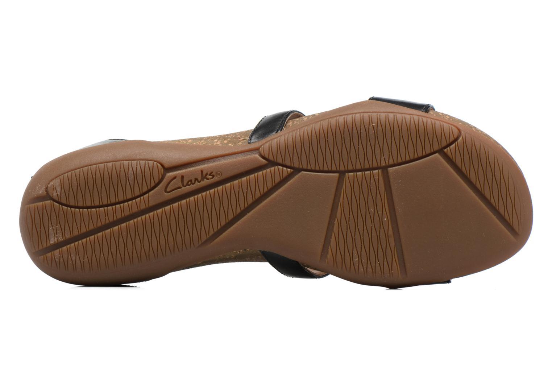 Sandales et nu-pieds Clarks Autumn Fresh Noir vue haut