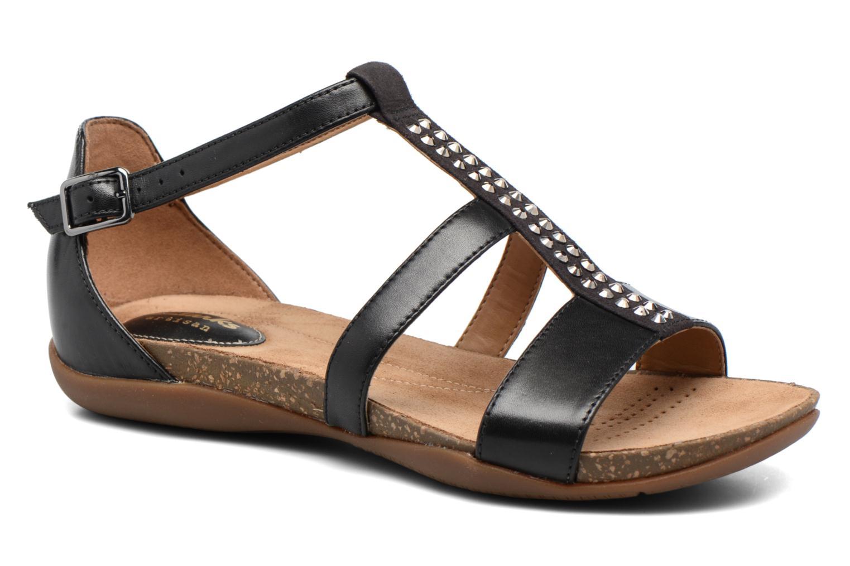 Sandales et nu-pieds Clarks Autumn Fresh Noir vue détail/paire