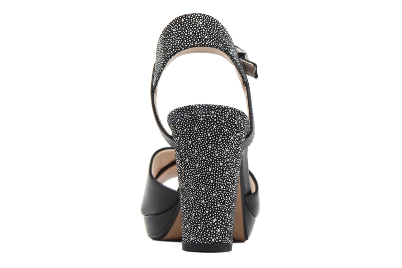 Sandales et nu-pieds Clarks Kendra Petal Noir vue droite