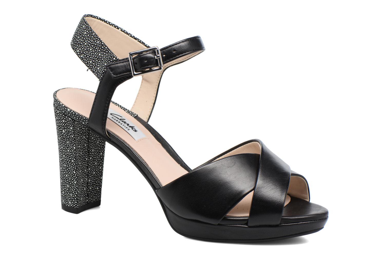 Sandales et nu-pieds Clarks Kendra Petal Noir vue détail/paire