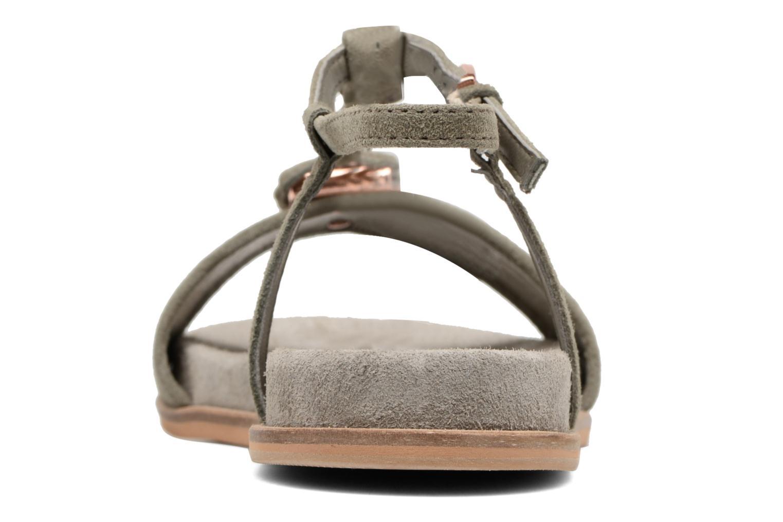 Sandales et nu-pieds Clarks Agean Cool Gris vue droite