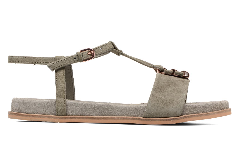 Sandales et nu-pieds Clarks Agean Cool Gris vue derrière