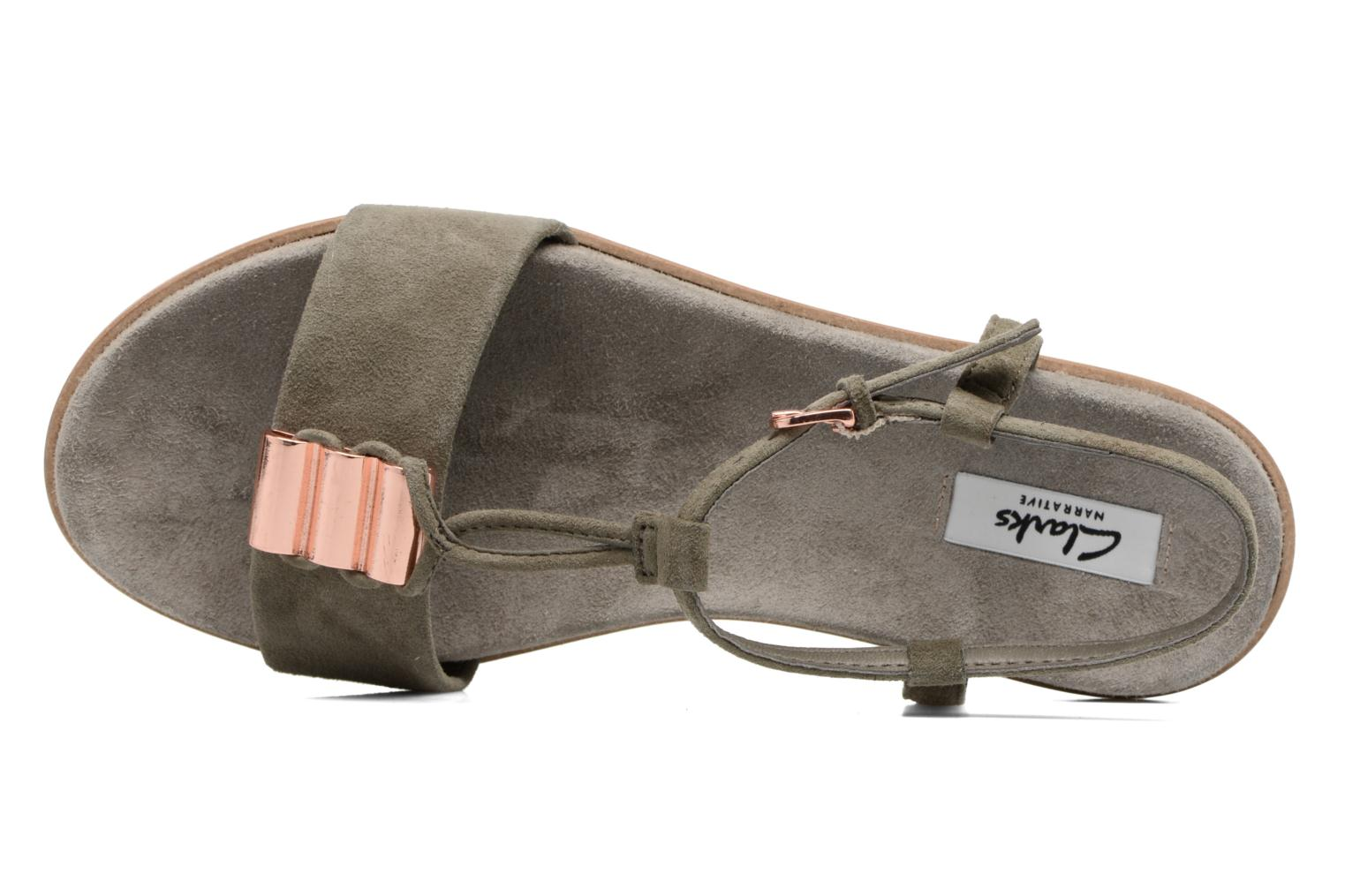Sandals Clarks Agean Cool Grey view from the left