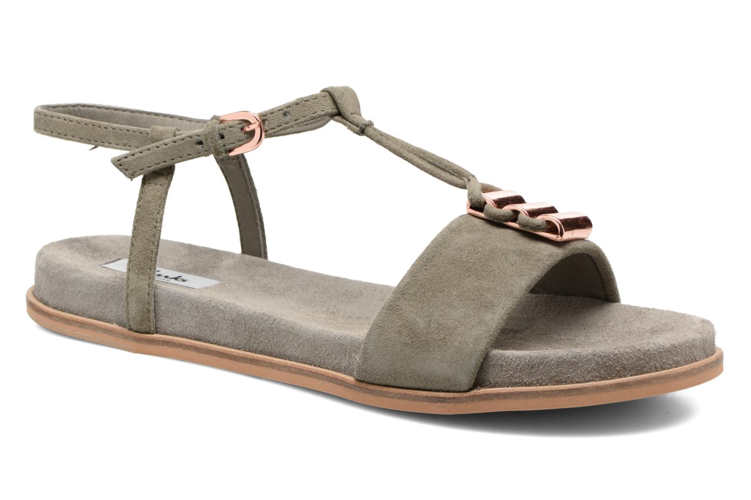 Sandals Clarks Agean Cool Grey detailed view/ Pair view