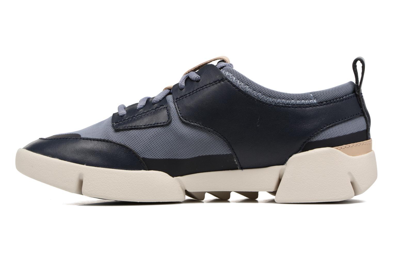 Sneaker Clarks Tri Soul blau ansicht von vorne