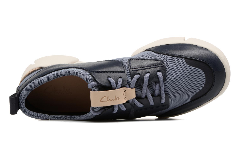 Sneaker Clarks Tri Soul blau ansicht von links