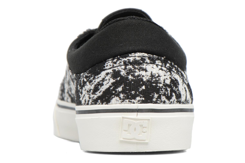 Baskets DC Shoes Trase Tx Le M Noir vue droite