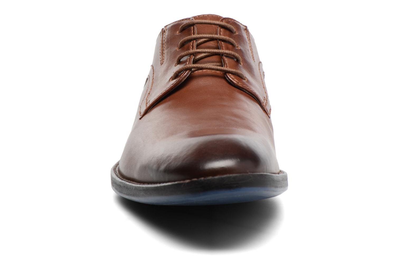 Schnürschuhe Clarks Prangley Walk braun schuhe getragen