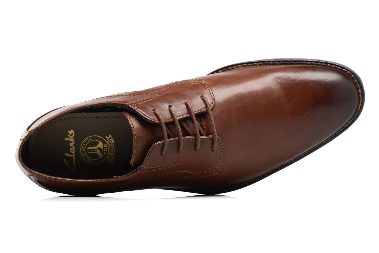 Zapatos con cordones Clarks Prangley Walk Marrón vista lateral izquierda