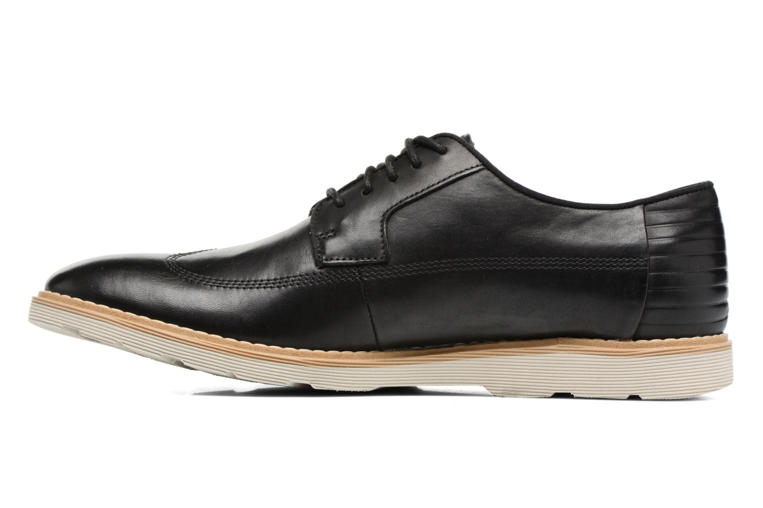 Chaussures à lacets Clarks Gambeson Style Noir vue face