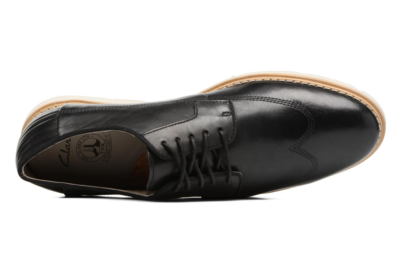 Chaussures à lacets Clarks Gambeson Style Noir vue gauche