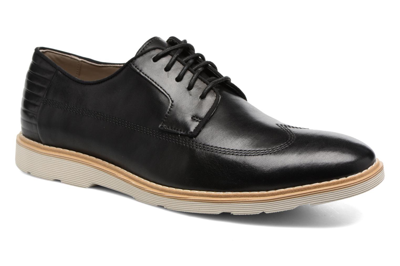 Chaussures à lacets Clarks Gambeson Style Noir vue détail/paire