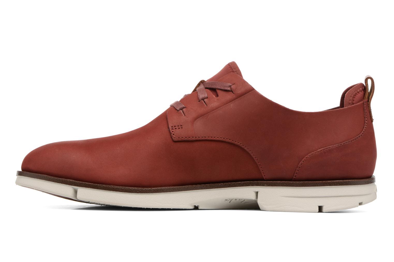 Chaussures à lacets Clarks Trigen Lace Rouge vue face