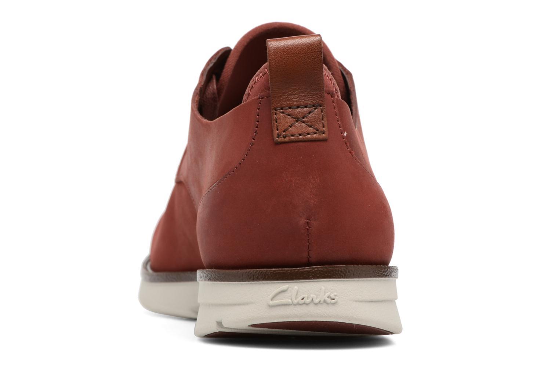 Scarpe con lacci Clarks Trigen Lace Rosso immagine destra