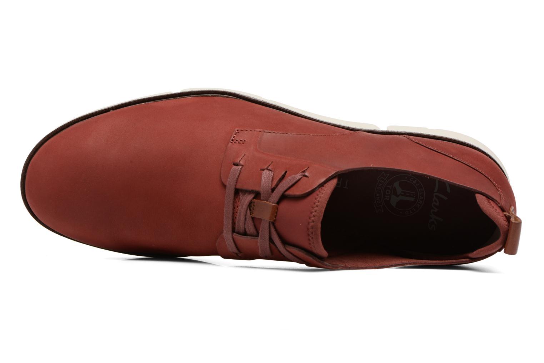 Chaussures à lacets Clarks Trigen Lace Rouge vue gauche