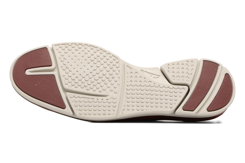 Chaussures à lacets Clarks Trigen Lace Rouge vue haut