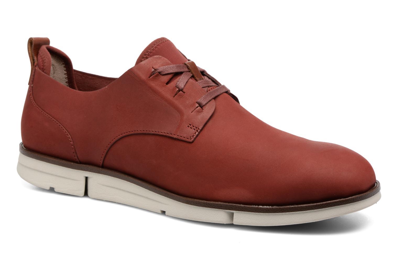 Chaussures à lacets Clarks Trigen Lace Rouge vue détail/paire