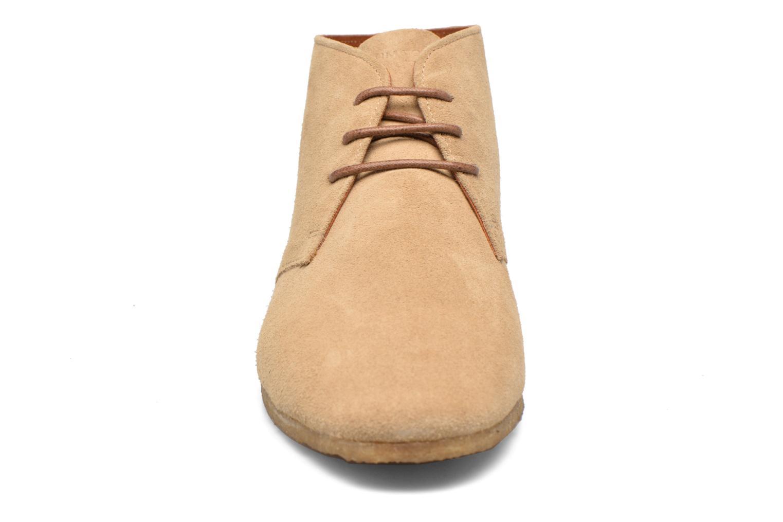 Schnürschuhe Schmoove Creps Desert beige schuhe getragen