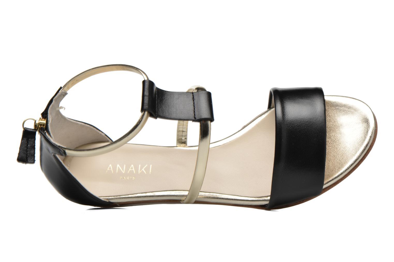 Sandales et nu-pieds Anaki Pamela Noir vue gauche
