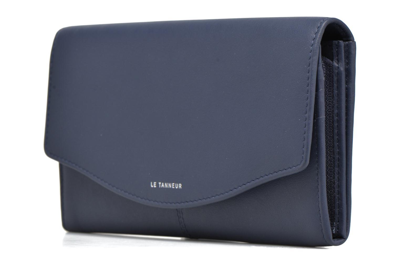 Wallets & cases Le Tanneur VALENTINE Porte-monnaie long anti-RFID Blue model view