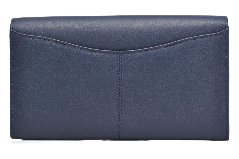 Kleine lederwaren Le Tanneur VALENTINE Porte-monnaie long anti-RFID Blauw voorkant