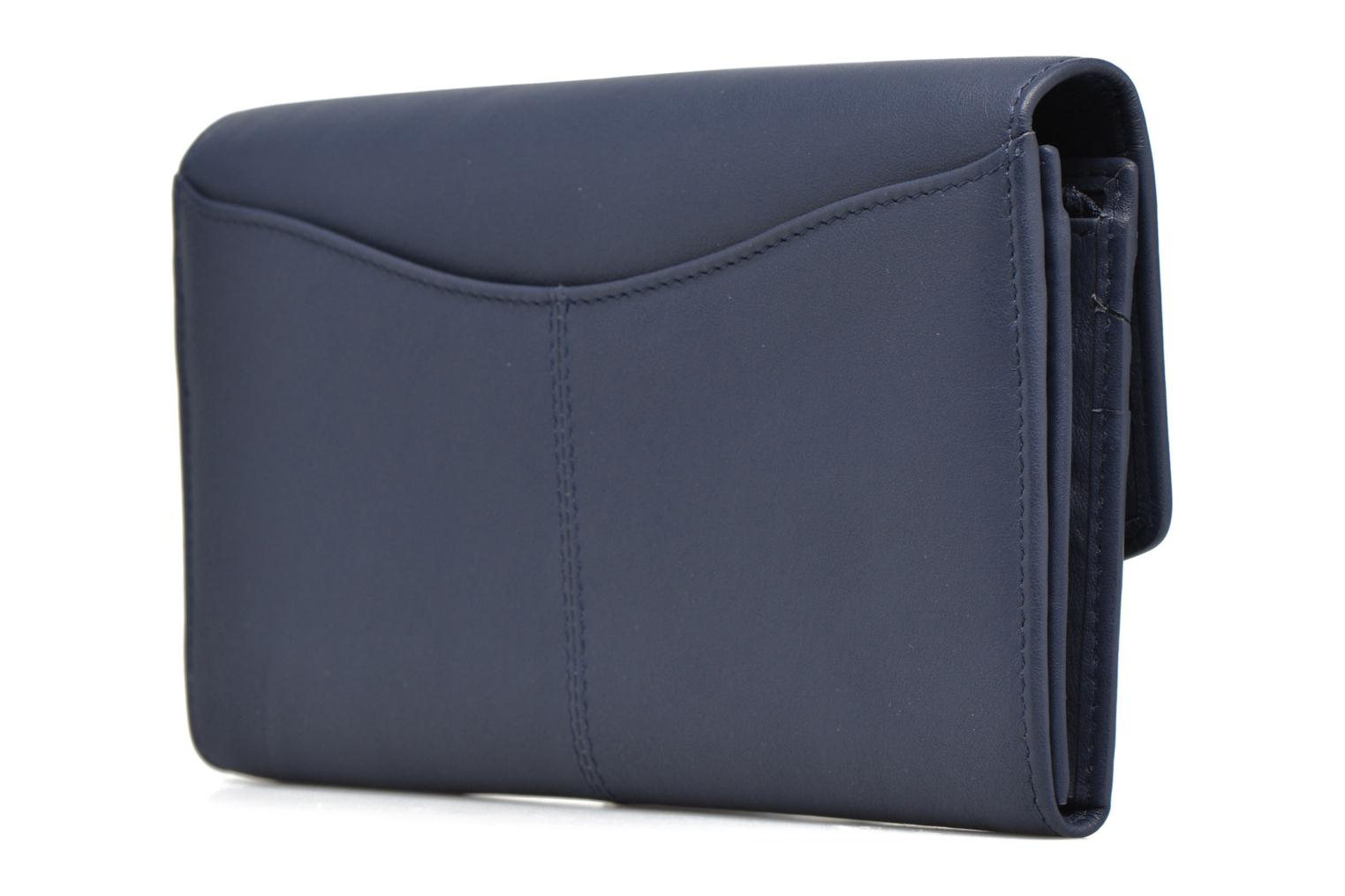 Wallets & cases Le Tanneur VALENTINE Porte-monnaie long anti-RFID Blue view from the right