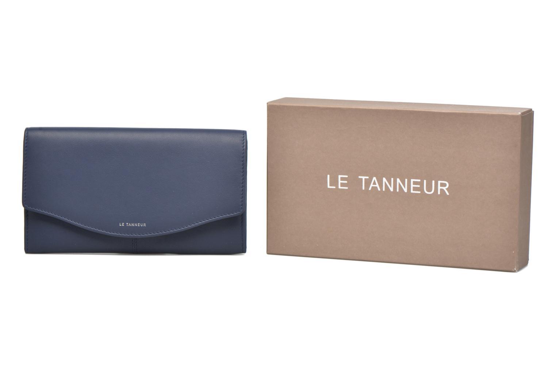 Kleine lederwaren Le Tanneur VALENTINE Porte-monnaie long anti-RFID Blauw detail
