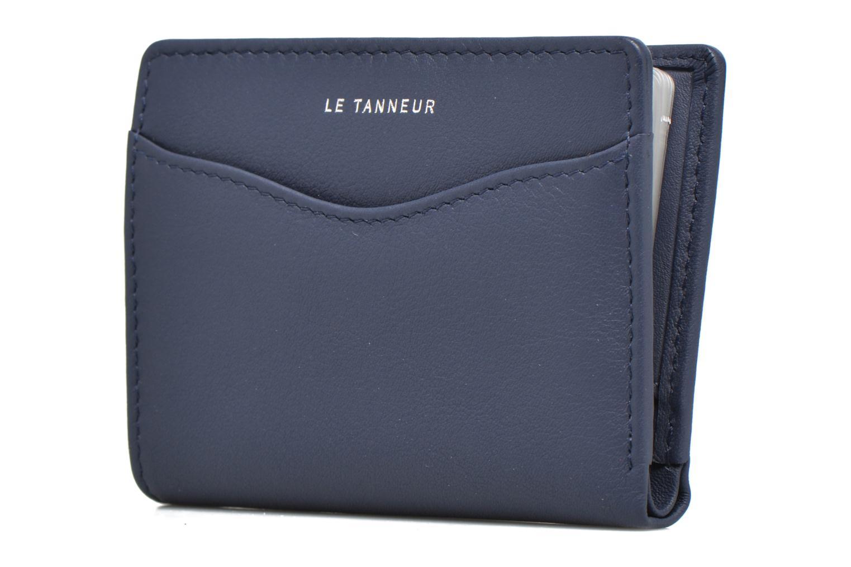 Marroquinería pequeña Le Tanneur VALENTINE Porte-cartes anti-RFID Azul vista del modelo