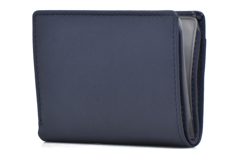 Marroquinería pequeña Le Tanneur VALENTINE Porte-cartes anti-RFID Azul vista lateral derecha