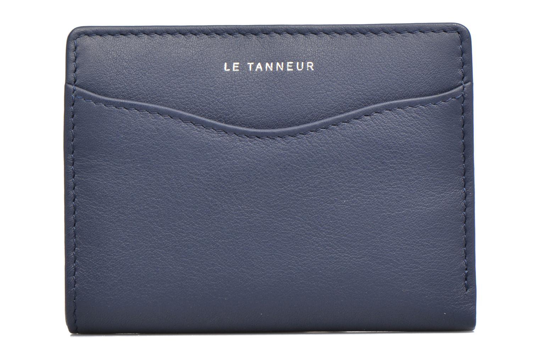 Marroquinería pequeña Le Tanneur VALENTINE Porte-cartes anti-RFID Azul vista lateral izquierda