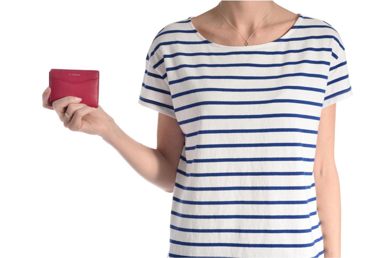 Marroquinería pequeña Le Tanneur VALENTINE Porte-cartes anti-RFID Azul vista de arriba