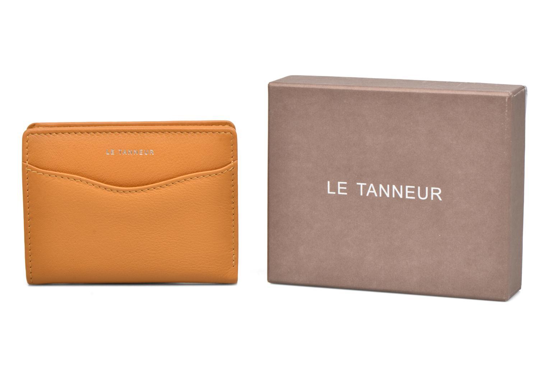 Kleine lederwaren Le Tanneur VALENTINE Porte-cartes anti-RFID Geel detail