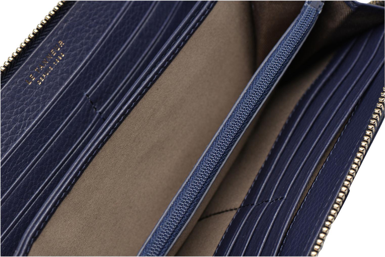 Petite Maroquinerie Le Tanneur CAPUCINE Porte-monnaie long zippé Bleu vue derrière