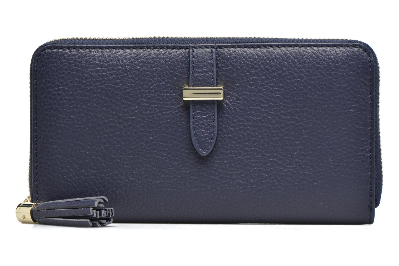 Petite Maroquinerie Le Tanneur CAPUCINE Porte-monnaie long zippé Bleu vue gauche