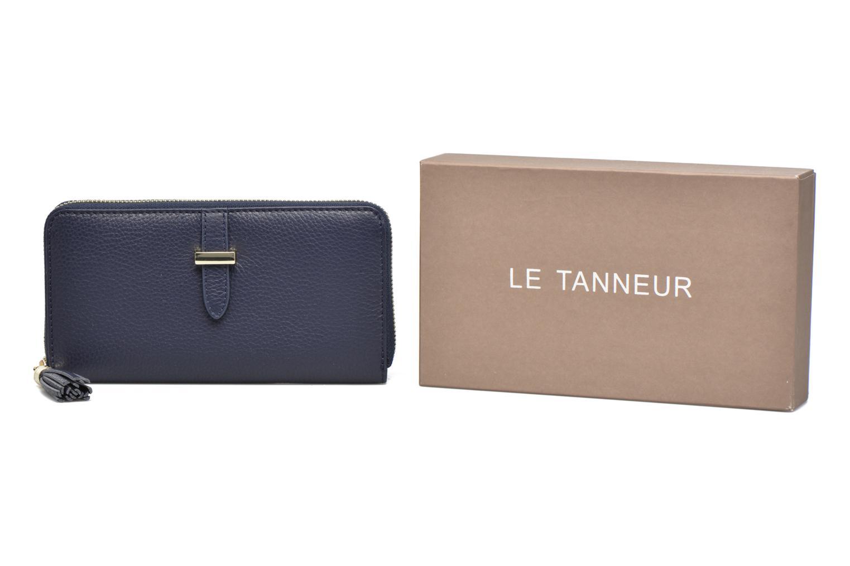 Petite Maroquinerie Le Tanneur CAPUCINE Porte-monnaie long zippé Bleu vue détail/paire