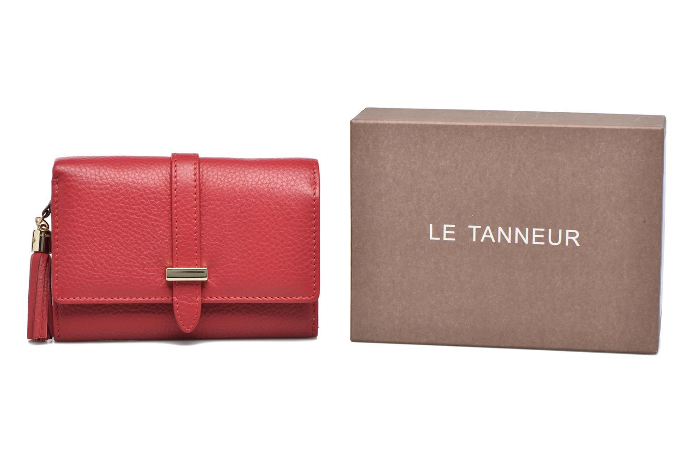 Petite Maroquinerie Le Tanneur CAPUCINE Porte-monnaie rabat Rouge vue détail/paire