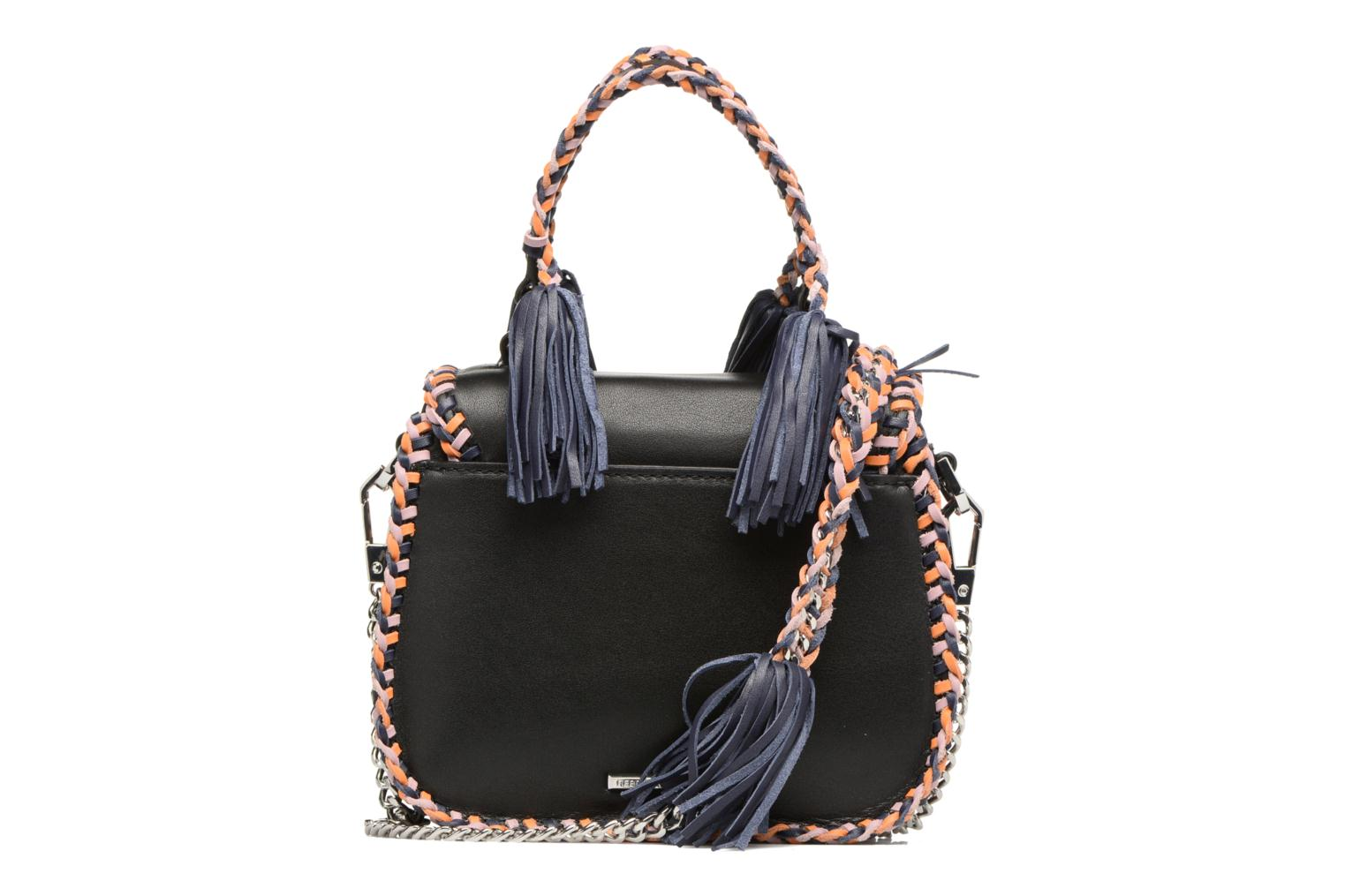 Sacs à main Rebecca Minkoff CHASE MEDIUM SADDLE BAG Noir vue face