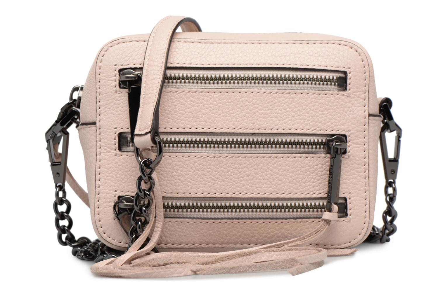 Handbags Rebecca Minkoff 4 ZIP MOTO CAMERA BAG Pink detailed view/ Pair view