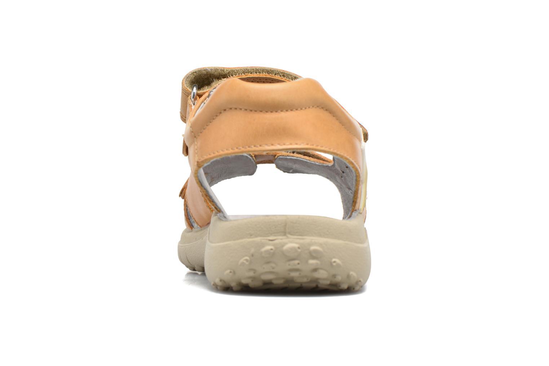 Sandales et nu-pieds Naturino Angelo 56775 Jaune vue droite
