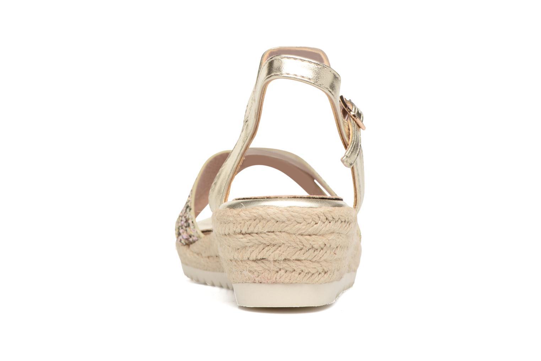 Sandales et nu-pieds Xti Aldana Or et bronze vue droite