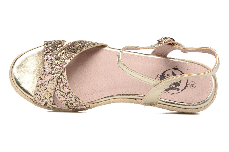 Sandales et nu-pieds Xti Aldana Or et bronze vue gauche