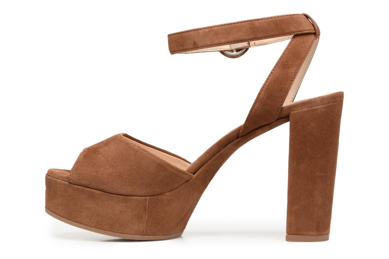 Sandali e scarpe aperte Unisa Venta Marrone immagine frontale
