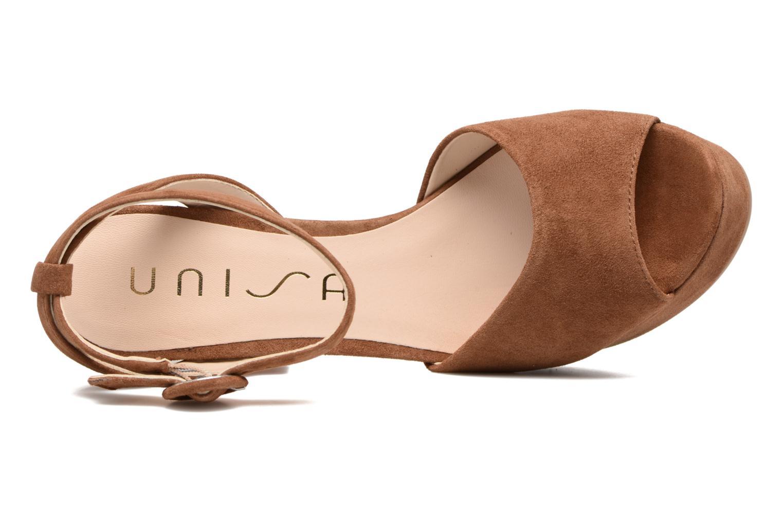 Sandali e scarpe aperte Unisa Venta Marrone immagine sinistra