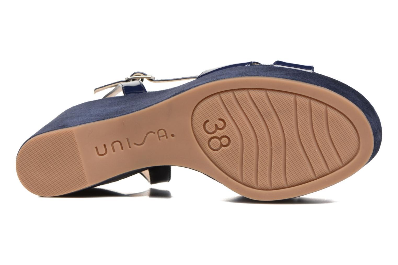 Sandales et nu-pieds Unisa Usain Bleu vue haut