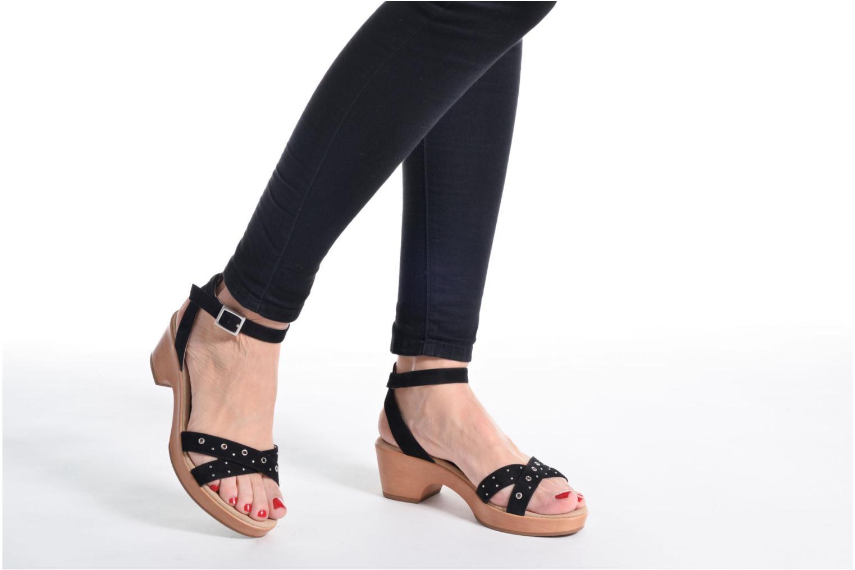 Sandales et nu-pieds Unisa Irita 3 Argent vue bas / vue portée sac