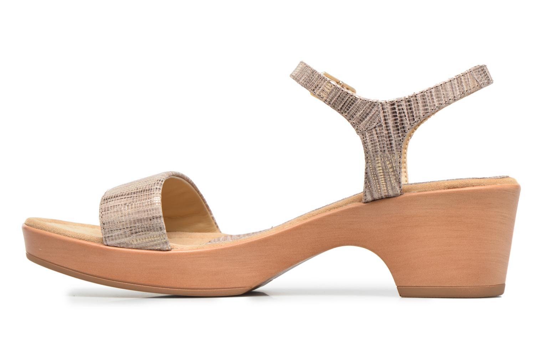 Sandales et nu-pieds Unisa Irita 3 Argent vue face