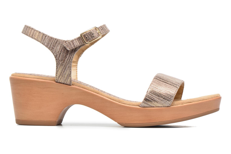 Sandales et nu-pieds Unisa Irita 3 Argent vue derrière
