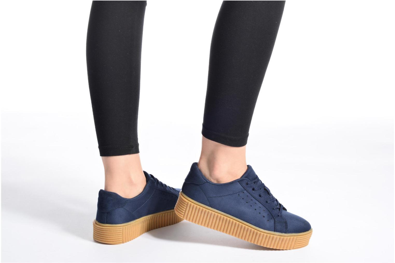 Baskets I Love Shoes Xumi Bleu vue bas / vue portée sac